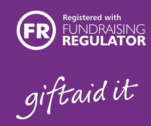 Registered with the Fundraising regulator - giftaid it