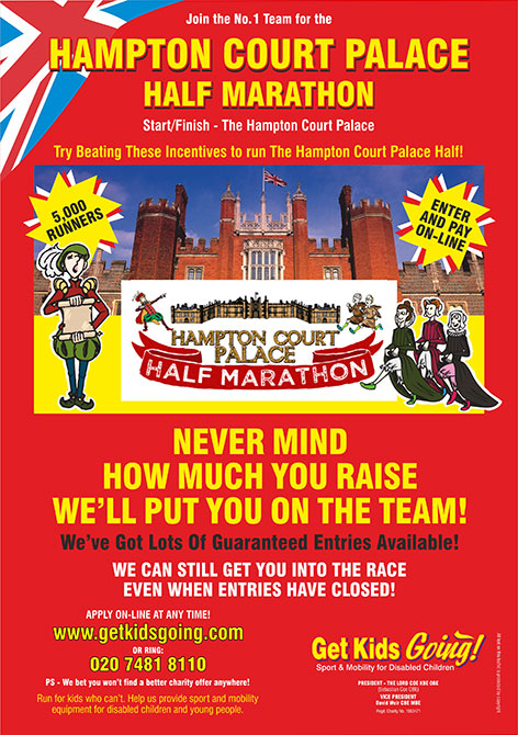 We have hundreds of guaranteed entry places available for the Hampton Court Palace Half Marathon just waiting to be filled!