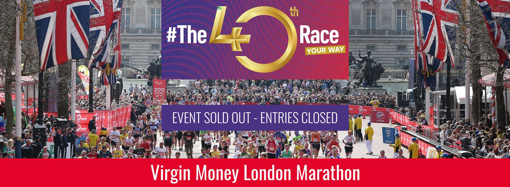 Virgin Money London Marathon - event sold out, entries closed